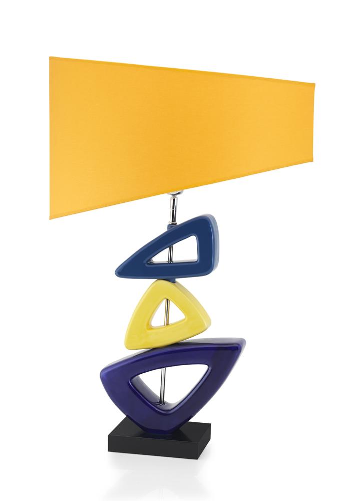 lampe envy jaune et bleue